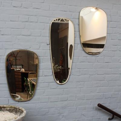 Series of asymmetrical mirrors vintage