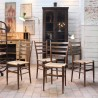 Set of 4 chairs in Gio Ponti style