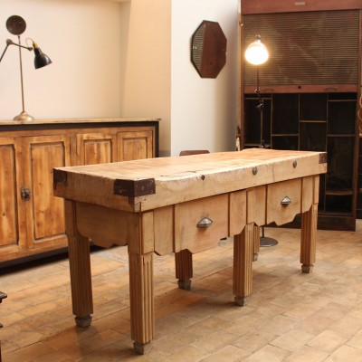 french Butcher's table circa 1930