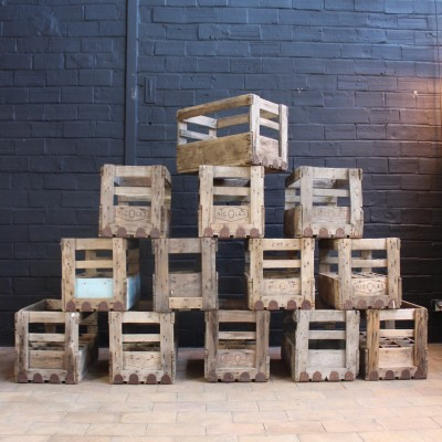 "Old ""Nicolas"" wooden crates"