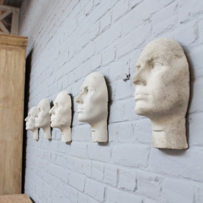Series of 5 cement heads 1960