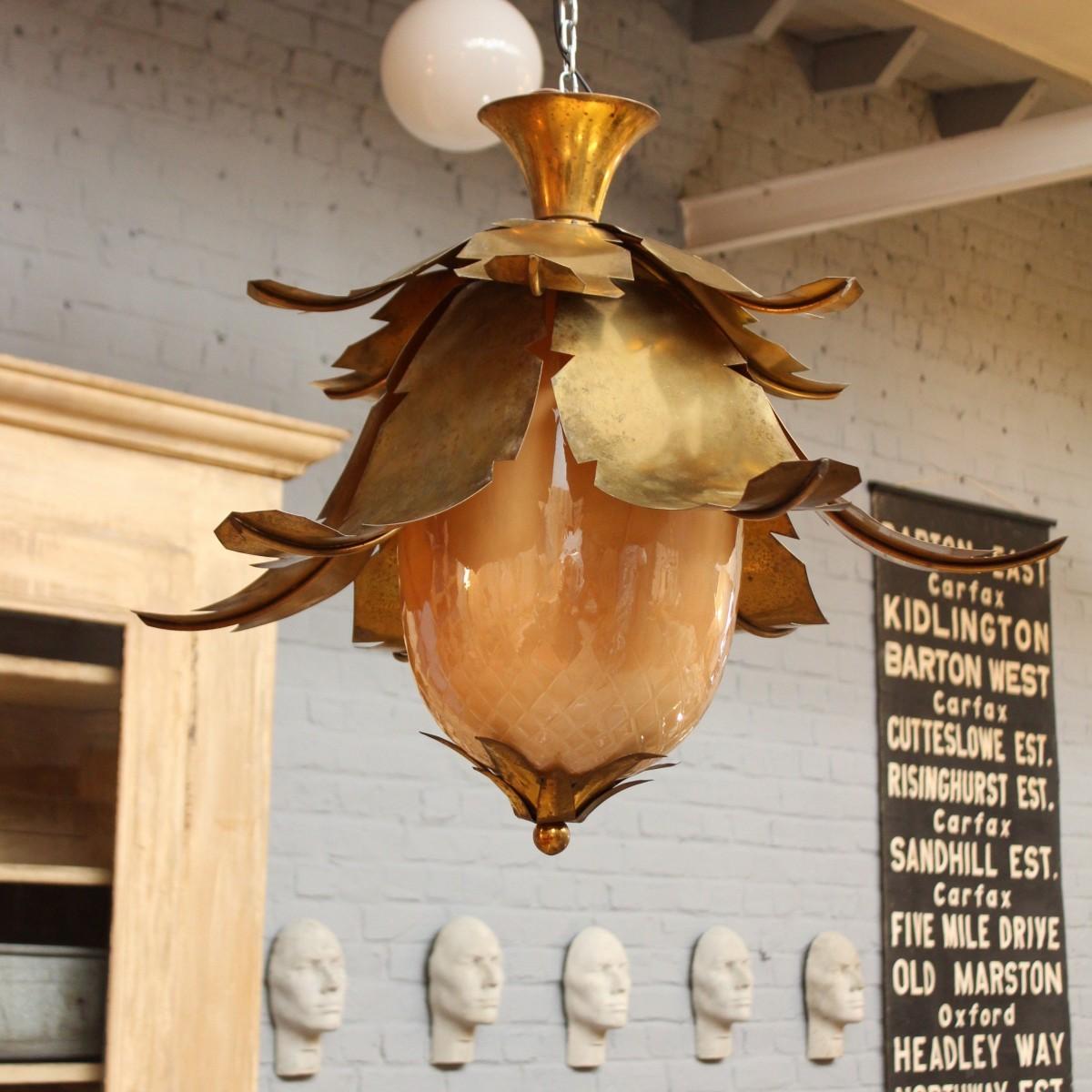 Suspension ananas 1930 art deco