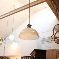 Ancienne suspension industrielle Holophane