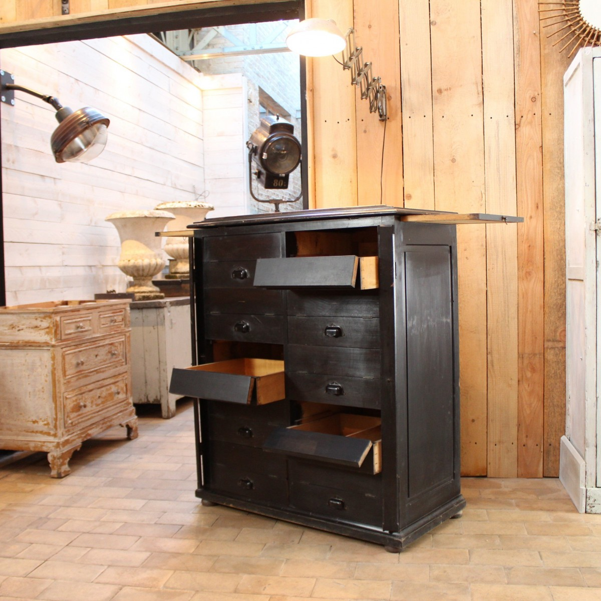 Wooden notary furniture