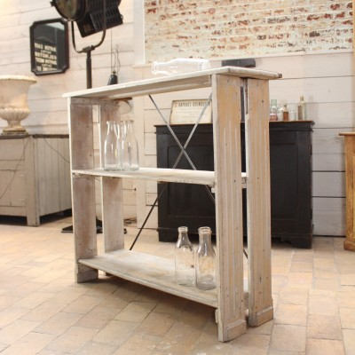 Wooden workshop shelf