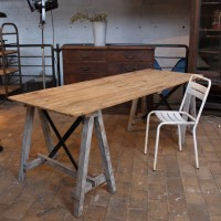 Wooden  french workshop table