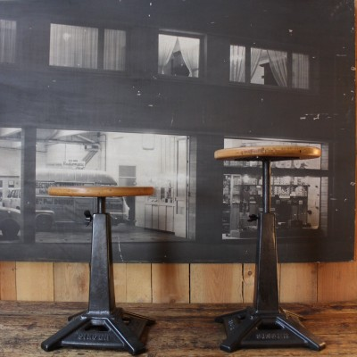 Pair of Singer stools
