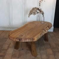 Grande table basse tronc d'arbre design 1950