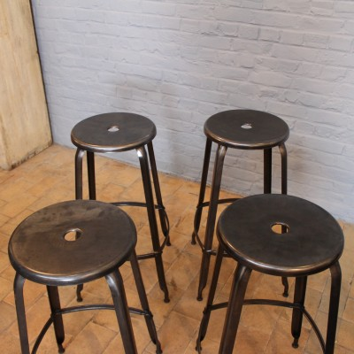 "Set of 4 high stools workshop ""Nicolle"""