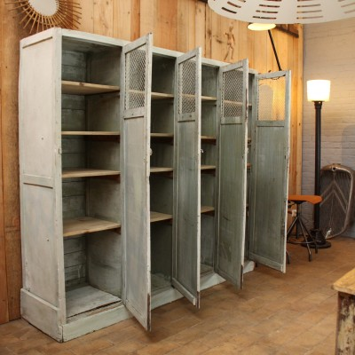 Wooden factory cabinet