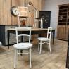 Série de 4 chaises en bois