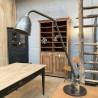 Ancienne lampe d'atelier en métal
