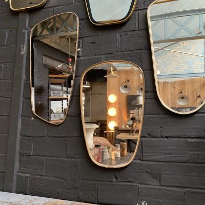 Série de miroirs asymétriques 1960 vintage