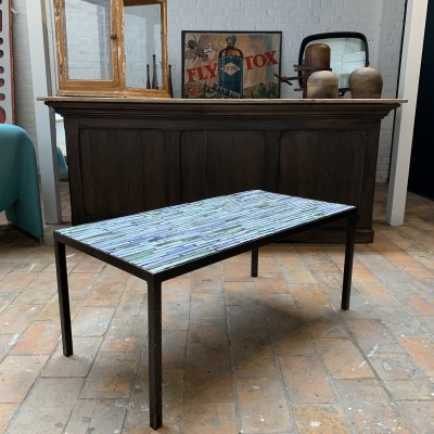 Table basse vintage carrelée 1960