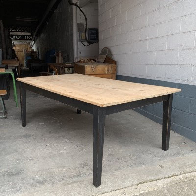 Large wooden farm table
