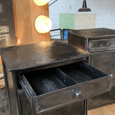 Pair of metal bedside tables 1950