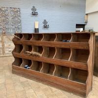 wooden grain cabinet