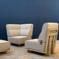 "Lounge chair Guillerme & Chambron ""ELMYRE"""