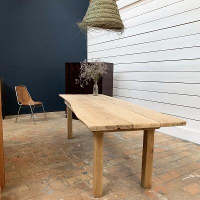 Elm wood table circa 1960 design