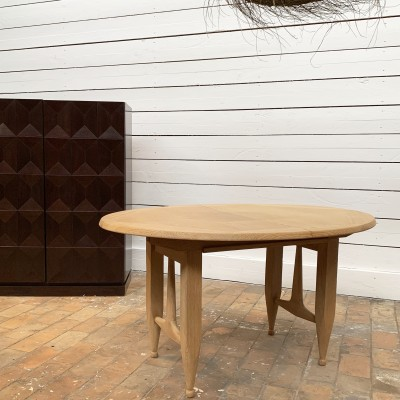 Extendable table Guillerme & Chambron 1960