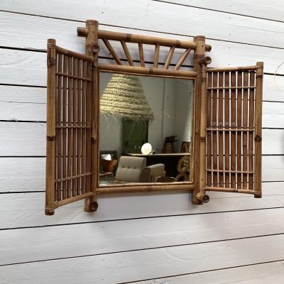 Miroir bambou 1960