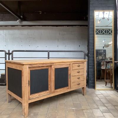 Ancien meuble d'atelier en bois double faces