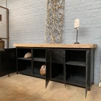 Sideboard industrial metal and wood