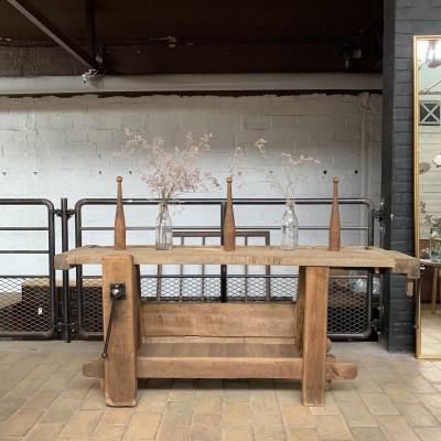 Former wooden workbench