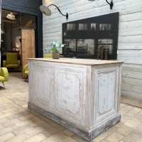 Former painted wooden counter