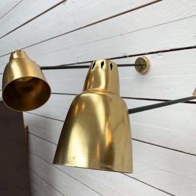Set of 4 wall lamp design 1960