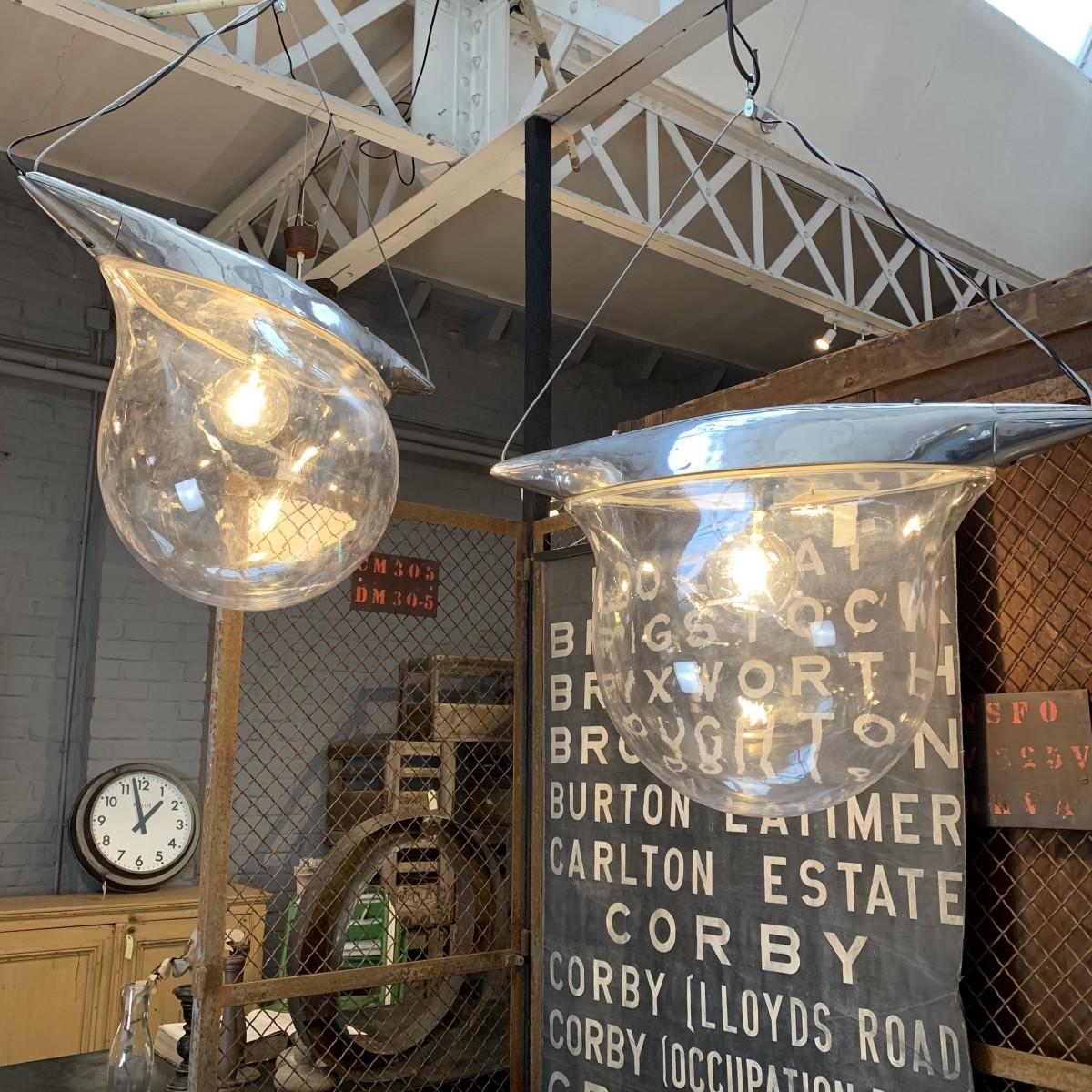 Pair of street lamps design 1970