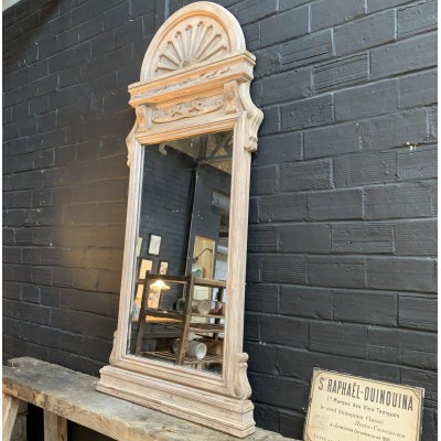 Wooden shop mirror