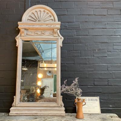 Ancien miroir de commerce en bois