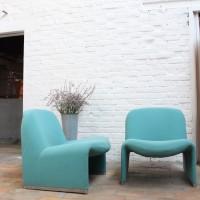 Paire de fauteuils ALKY par Giancarlo Piretti