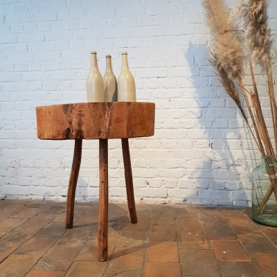 Old butcher's wooden table