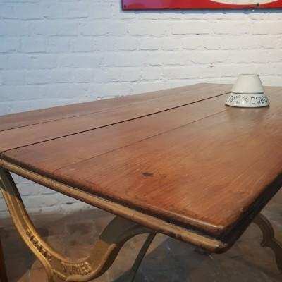 Former bistro table. Brasserie parisienne