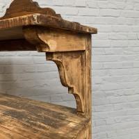 Wooden shop shelf 1930