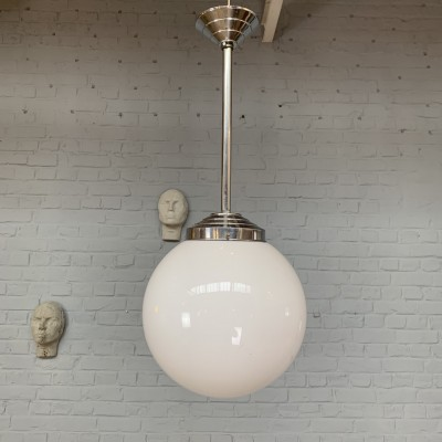 Series of 3 vintage opaline suspensions
