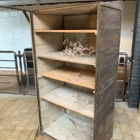 Metal and wood showcase