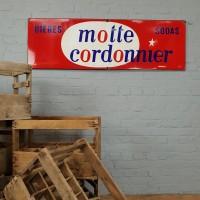 """Plaque émaillée """" Motte Cordonnier"""""""