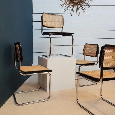 Série de 4 chaises Marcel Breuer B32