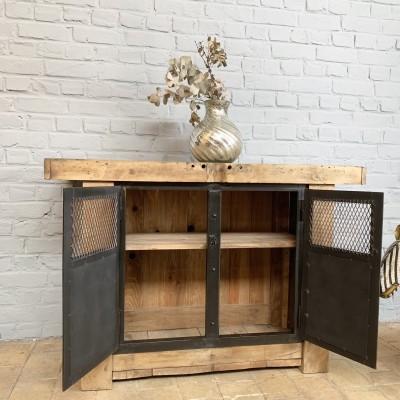 Metal and wood workbench