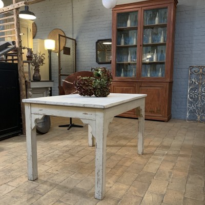 Wooden workshop table