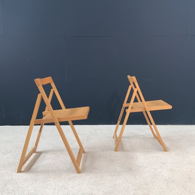 Paire de chaises design pliantes 1970
