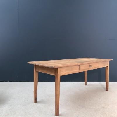 Wooden farmhouse table circa 1900