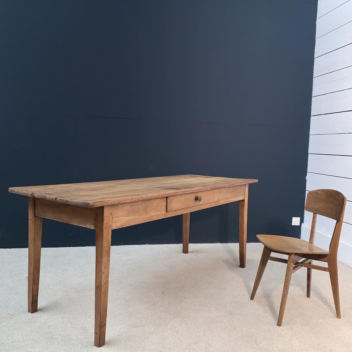 Ancienne table de ferme en bois 12