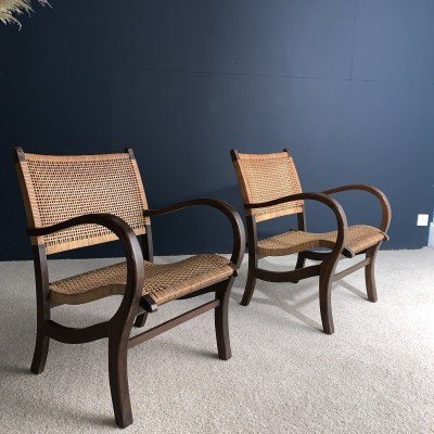 Paire de fauteuils design 1960
