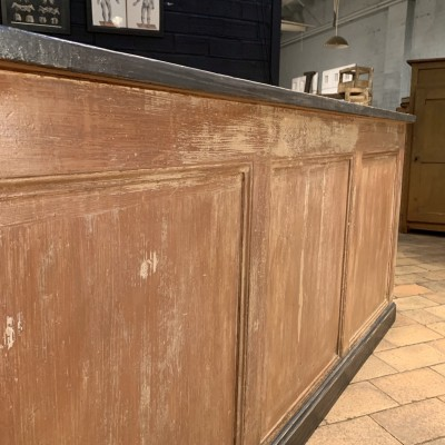 Wooden counter shop