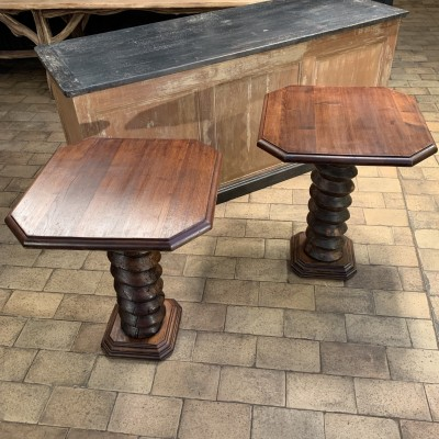 Pair of wooden console