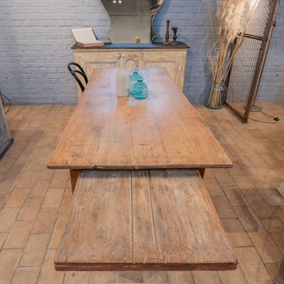 French farmer table in cherry wood